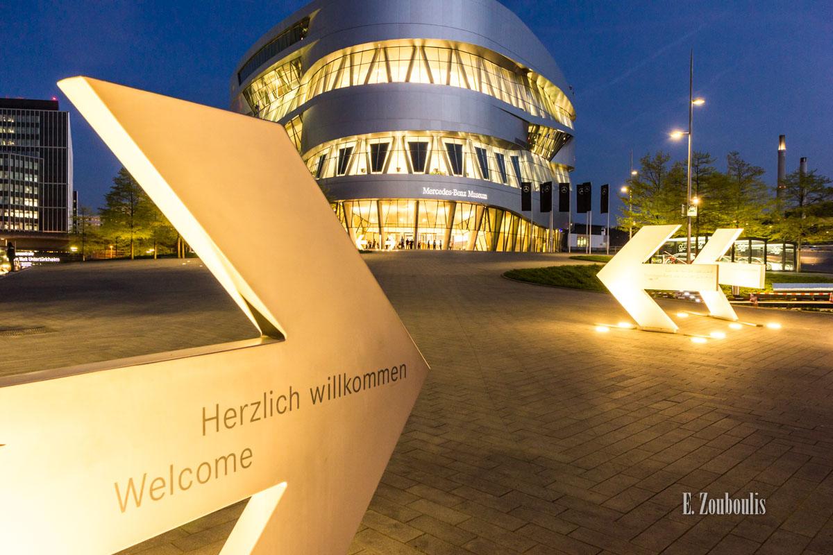 Timelapse Aufnahmen in Stuttgart am Mercedes Benz Museum