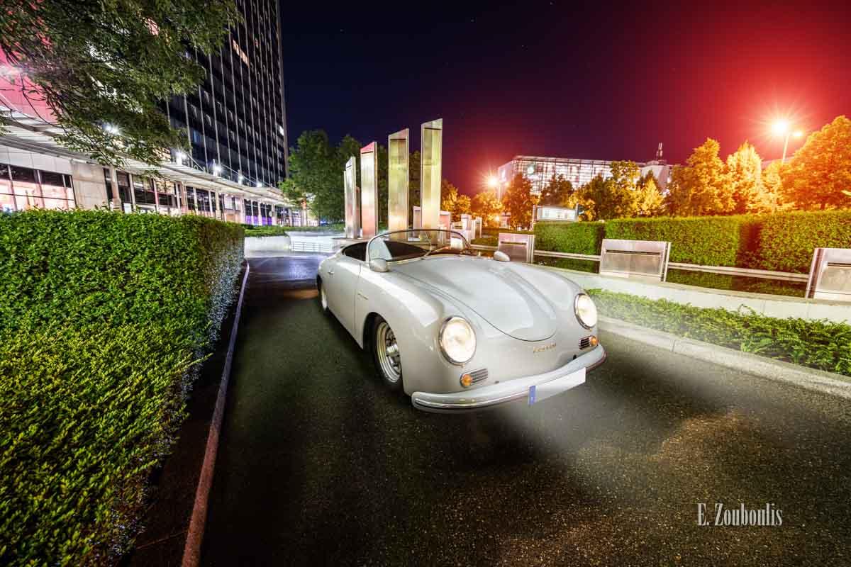 Ein Porsche 356 Speedster aus dem Jahr 1956 zu Besuch in Stuttgart Möhringen am SI Centrum