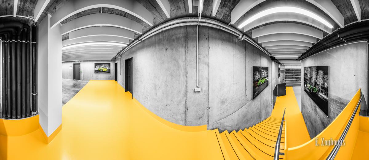 360, Architecture, Architektur, Baden-Württemberg, CCR, Cars, Chromakey, Colorkey, Deutschland, Dunkel, EZ00684, Filderstadt, Fine Art, FineArt, Garage, Gelb, Germany, Licht, Panorama, Pemac, Stellplatz, Stuttgart, Trees, Yellow, Zouboulis, classic car refugium, oldtimer, treppe, urban, werkstatt, zouboulis photography