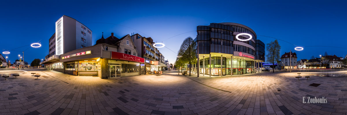 360 Grad Panorama Bild an der Bahnhofstraße in Böblingen