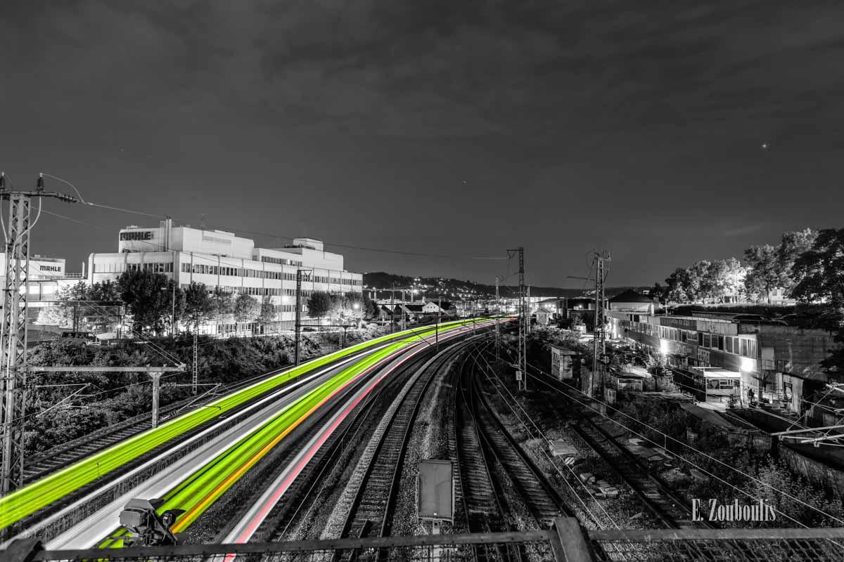 Züge auf dem Weg nach Stuttgart Feuerbach