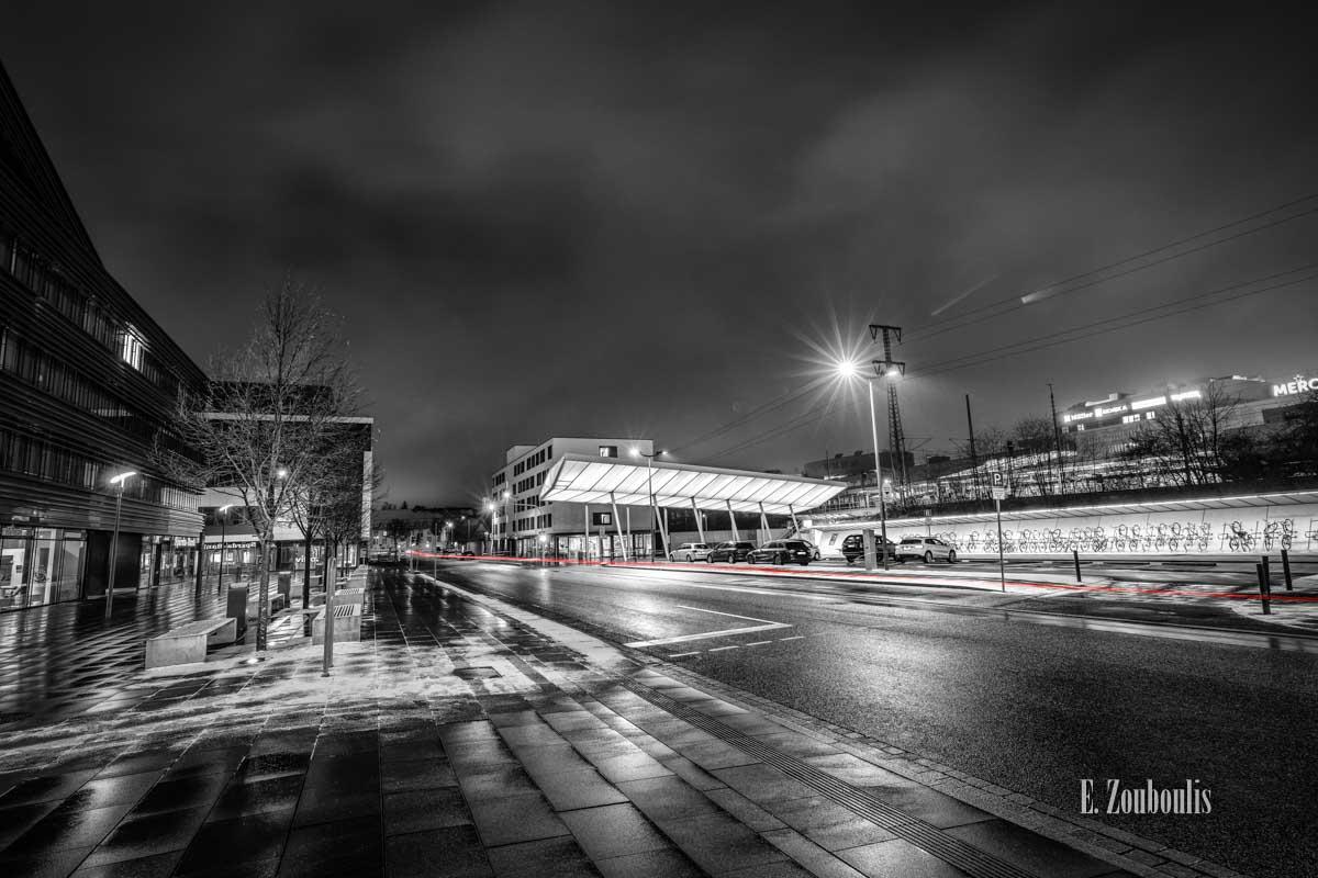 Böblingen Rückseite vom Bahnhof im Winter