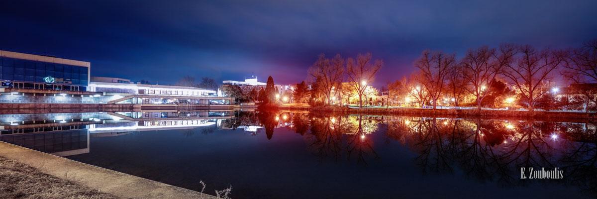 Bild Kongresshalle Böblingen bei Nacht