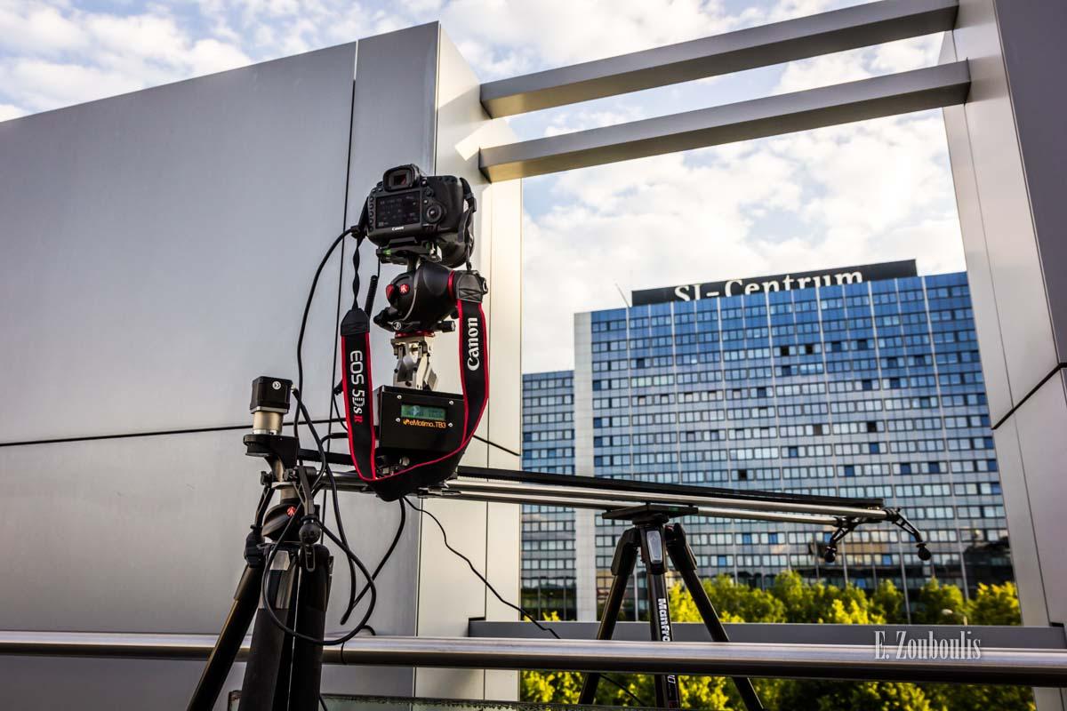 Hinter den Kulissen bei den Timelapse Aufnahmen in Stuttgart am SI Centrum