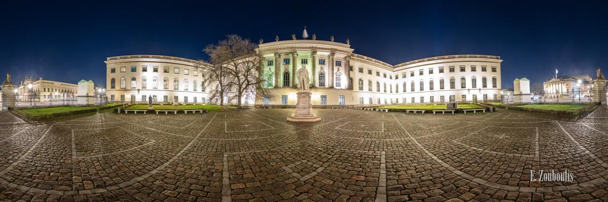 Berlin Humboldt Universität Panorama - 360 Grad Fotografie an der Humboldt Universität Berlin bei Nacht